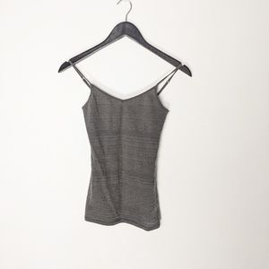 Aeropostale grey tank with lace detail